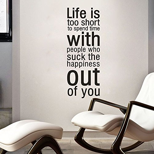 Sucks Adult Sweatshirt - ^YW^^ ❤ Wall Stickers ,Life is Too Short to Spend Time with People Who Suck The Happiness Out of You Removable Art Vinyl Mural Home Room Decor Wall Stickers