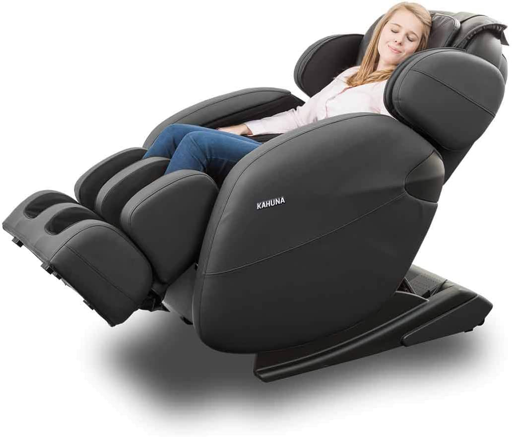 Space-Saving Zero Gravity Full-Body Kahuna Massage Chair Recliner LM6800 with Yoga & Heating Therapy (Black)