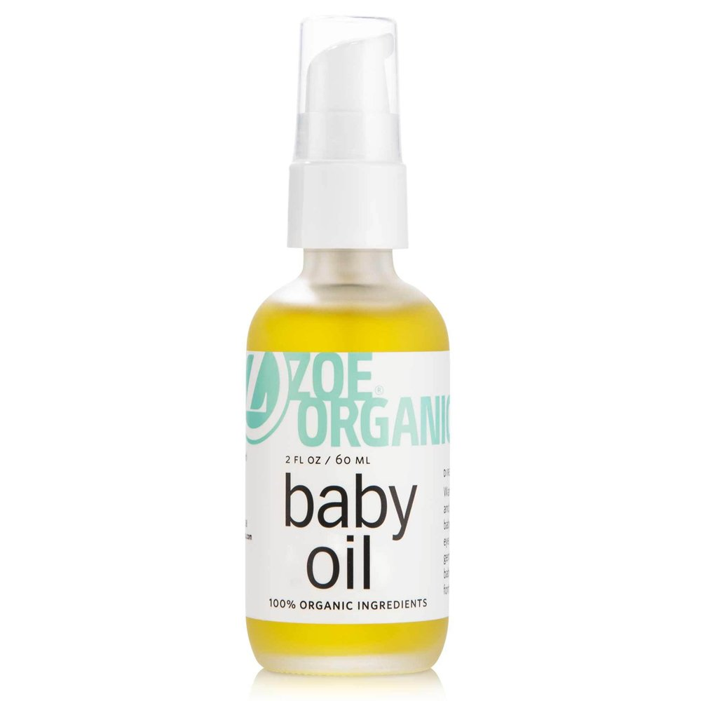 Zoe Organics - Baby Oil, Organic Calming Blend of Nutrient-Rich Oils, Moisturizes Baby's Delicate Skin, Massage Oil, Calming Blend of Lavender and Chamomile (2 oz)