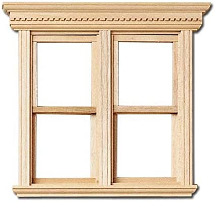 1 //12 Scale Dollhouse Double Fancy NonWorking Window