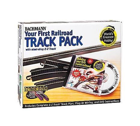 amazon com bachmann trains snap fit e z track steel alloy rh amazon com