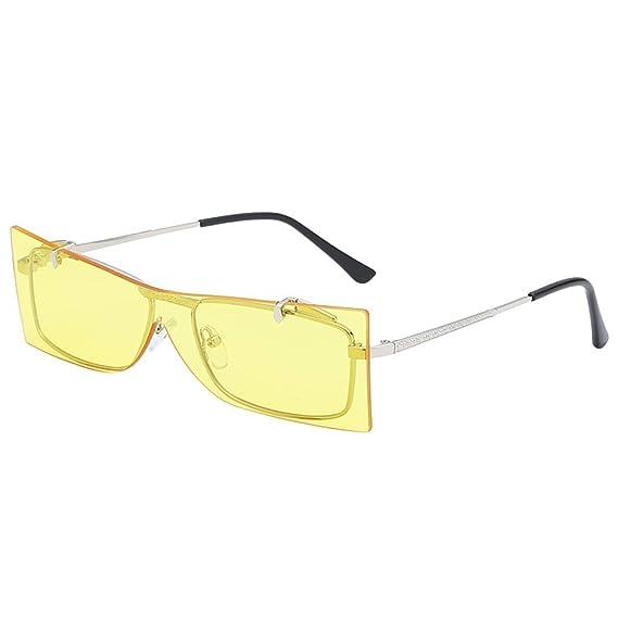 8ce174a5bb Gafas de sol estilo Trendy Gradient con borde irregular vintage - Lentes  polarizadas con 100% de protección UVA y UVB - Diseño retro cómodo:  Amazon.es: Ropa ...