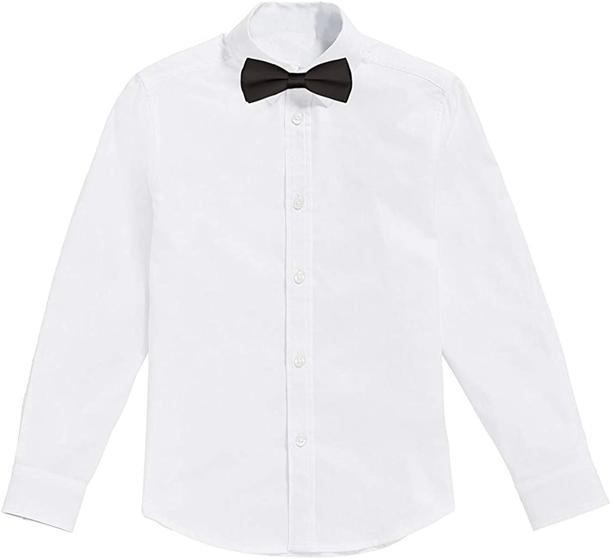 Classic - Camisa Blanca de niños con Pajarita Negro (2 años ...