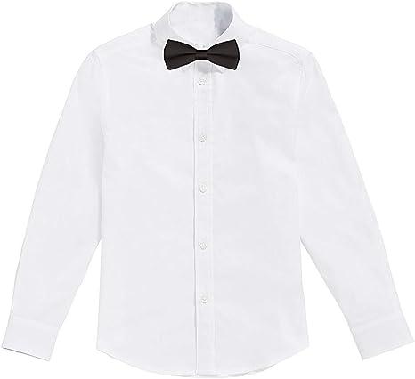Classic - Camisa Blanca de niños con Pajarita Negro (8 años): Amazon.es: Ropa y accesorios