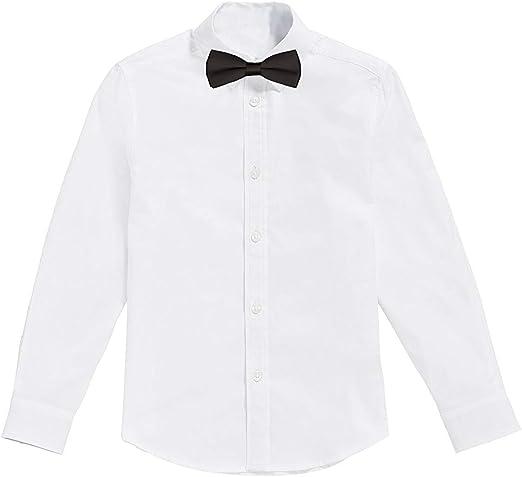 Classic - Camisa Blanca de niños con Pajarita Negro (2 años): Amazon.es: Ropa y accesorios