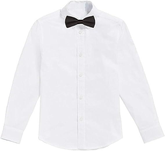 Classic - Camisa Blanca de niños con Pajarita Negro (10 años ...