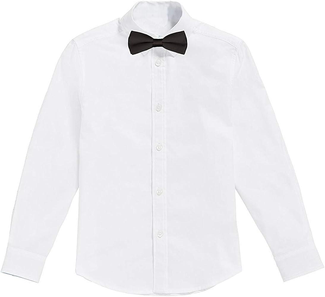 Classic - Camisa Blanca de niños con Pajarita Negro (4 años): Amazon.es: Ropa y accesorios