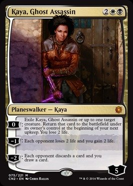 Single Card Ghost (Magic: the Gathering - Kaya, Ghost Assassin (075/221) - Conspiracy 2: Take the Crown)
