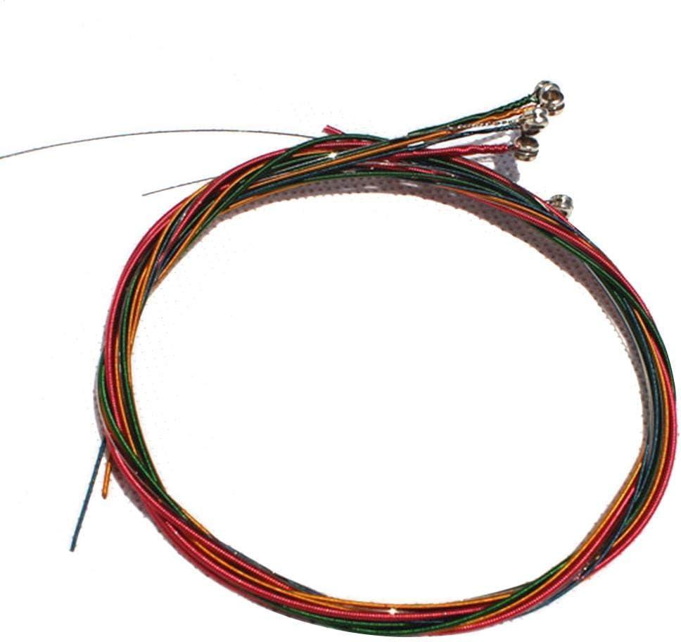 Urben Life Cuerda de Acero de Repuesto para Cuerdas de Color de Guitarra 6pcs/Set para Guitarra acústica