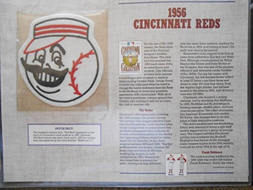 1956 CINCINNATI REDS COOPERSTOWN COLLECTION TEAM PATCH Willabee & -