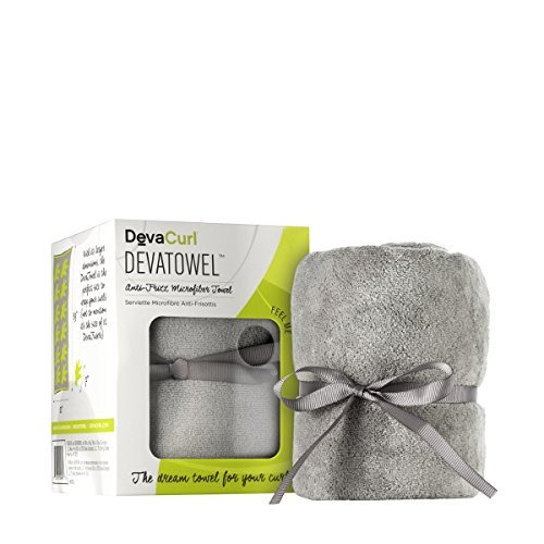 DevaCurl Deva-Towel Gray Microfiber, 1 Count (Dryer Hair Towel Diva)
