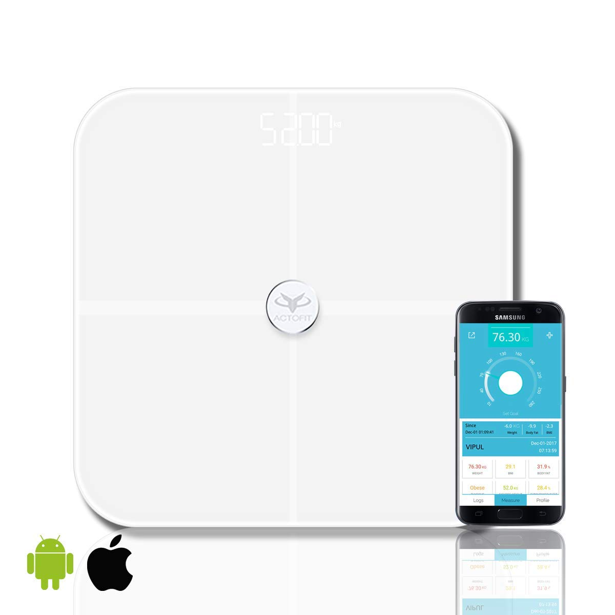 Acrofit smart weighing scale