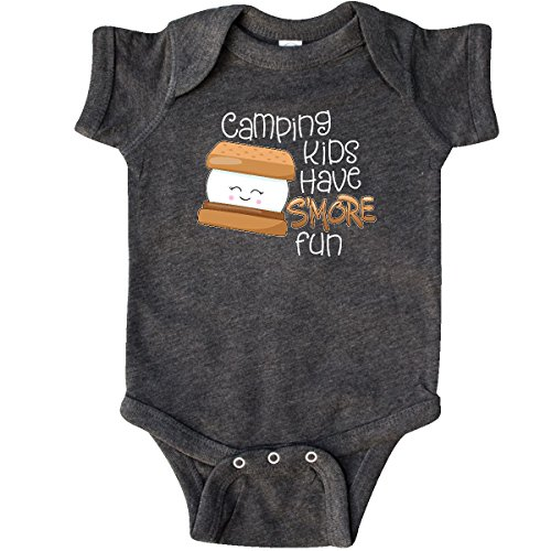 inktastic - Camping Kids Have Infant Creeper 6 Months Retro Heather Smoke 2eb35