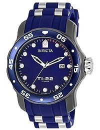 Invicta Men's 'TI-22' Automatic Titanium and Silicone Casual Watch, Color:Blue (Model: 23558)