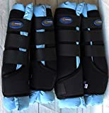 Horse Stable Shipping Boots Wraps Front Rear 4PK Purple Leg Care Sky Blue 4120BL