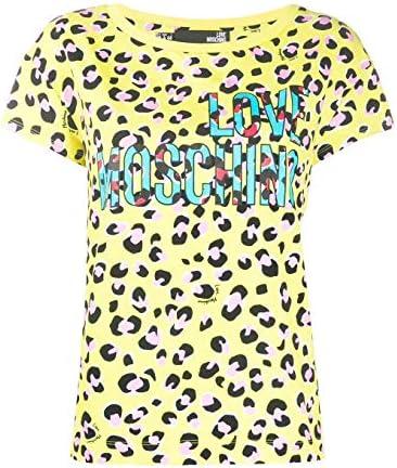 Love Moschino T-Shirt Donna W4F301TM4179 0016 Cotone Gialla PE20