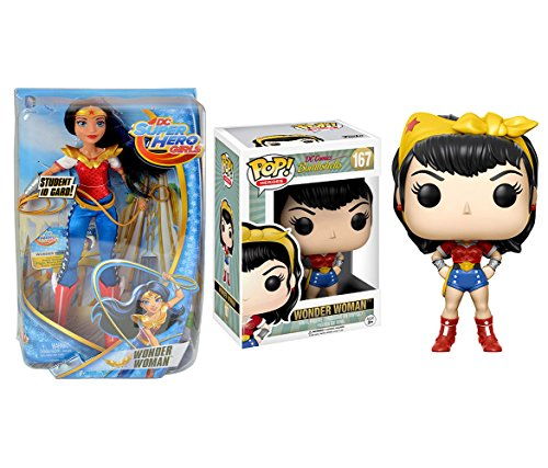 Mozlly Value Pack - DC Comics Wonder Woman 16oz Red Travel To Go Drinkware Cup AND Shield Pewter Key Chain (2 Items) - Item #K103126-124003 ()