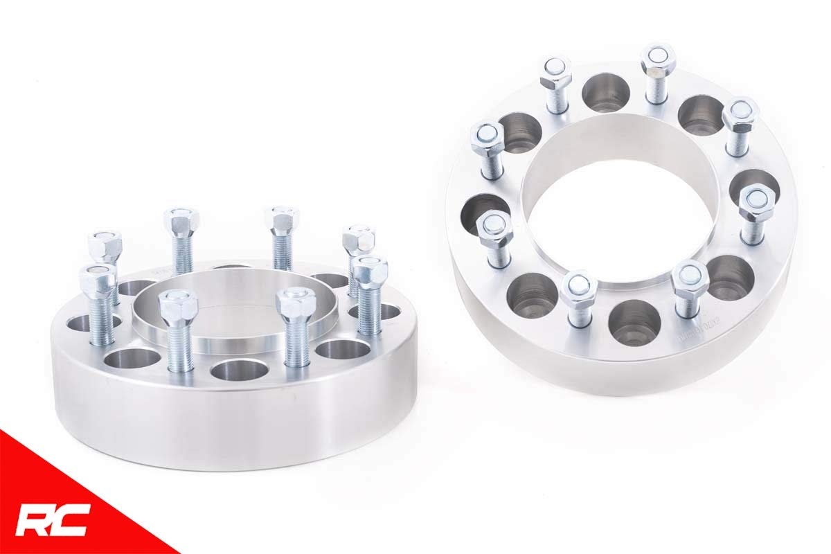 Rough Country 2'' Wheel Spacers (fits) 2003-2019 Super Duty F250 F350 4WD (8x170) Aluminum Pair 1094 by Rough Country