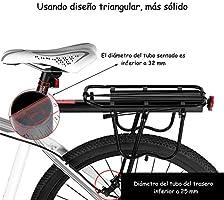 Gindoly Portaequipajes Trasero Bicicleta Accesorios Ajustable ...