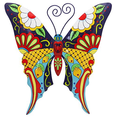 Juegoal Metal Wall Art Inspirational Butterfly Wall Decor Sculpture Hang Indoor Outdoor for Home, Bedroom, Living Room, Office, Garden ()