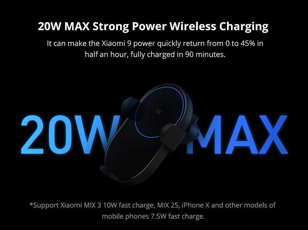 Amazon.com: Xiaomi Wireless Car Charger 20W Max Power ...