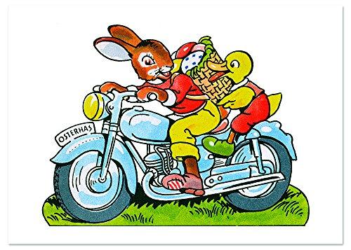 Biker Bunny Easter Greeting Card