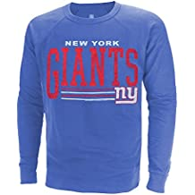 "New York Giants NFL Men's ""Fundamentals"" French Terry Crew Sweater, Royal Blue Heather"