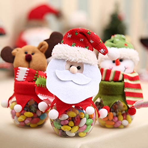 HEART SPEAKER Christmas Snowman Santa Reindeer Candy Box Jar Biscuit Sweetie Container Party Decor 5# by HEART SPEAKER (Image #6)