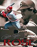 Pete Rose Signed 8X10 Photo Autograph Reds Collage Silver Ink Auto w/COA