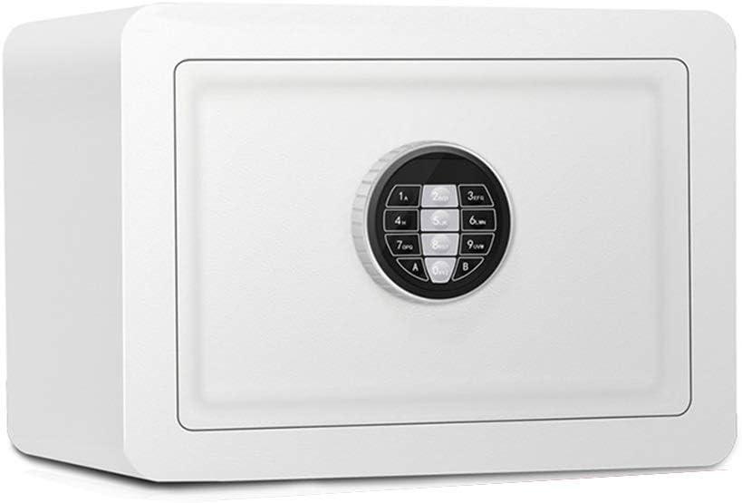 Caja fuerte certificada para oficina, caja fuerte para muebles, antirrobo, contraseña electrónica, caja fuerte, llave de emergencia, doble estructura de acero 350 * 250 * 250 mm, pequeño cajón de: Amazon.es: Hogar