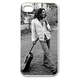 Iphone 4,4S 2D Customized Phone Back Case with Bob Marley Image