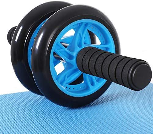SONGMICS Bauchroller, Bauchtrainer mit doppeltem Rad, rutschfeste Griffe, mit Kniematte, für Fitness, Workout, Training zu Hause