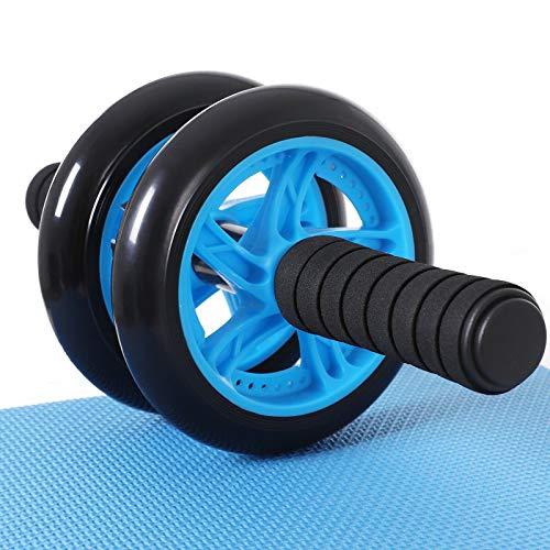 Songmics buikroller, buiktrainer, voor fitness, met antislip, goed gevoerde kniemat, buikspiertraining en spieropbouw…