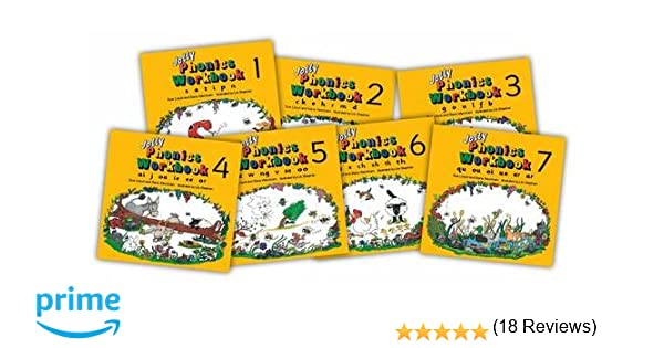 Amazon.com: Jolly Phonics Workbooks 1-7 (9781870946506): Sue Lloyd ...