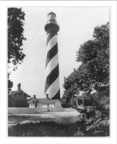Historic Print (L): [St. Augustine Lighthouse, Anastasia Island, St. - Lighthouse Anastasia