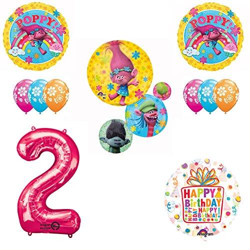 TROLLS Movie 2nd Happy Birthday Party Balloons Decoration Supplies Poppy Branch Movie