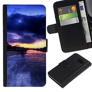 All Phone Most Case / Oferta Especial Cáscara Funda de cuero Monedero Cubierta de proteccion Caso / Wallet Case for Sony Xperia Z3 Compact // River Amazon Rain Clouds Nature