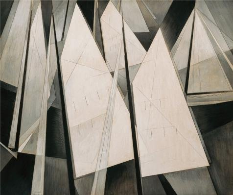 Perfect Effect Canvas ,the High Quality Art Decorative Prints On Canvas Of Oil Painting 'Charles Demuth,Sails,1919', 10x12 Inch / 25x30 Cm Is Best For Bathroom Artwork And Home Decor And Gifts