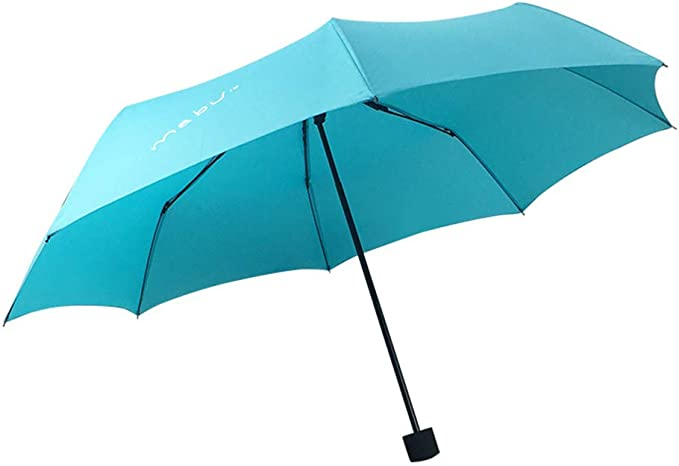JUNDY Paraguas Compacto y Resistente al Viento, Paraguas Plegable, Conveniente para Viajes Paraguas Claro Color Puro Paraguas Plegable colour7 98cm: Amazon.es: Hogar