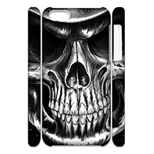 Cell phone 3D Bumper Plastic Case Of Skull For iPhone 5C by supermalls