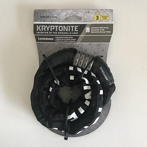 Kryptonite Lockdown Integrated Combo Chain Lock (Security Level 3) ()