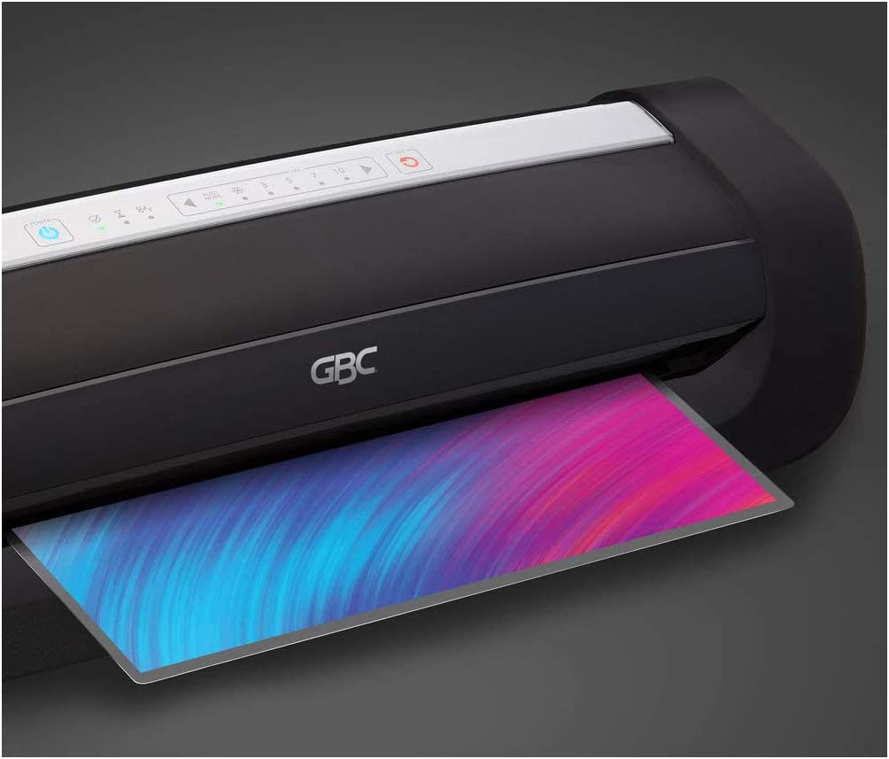 GBC Thermal Laminator Machine, Fusion 6000L, 12 Inch, 1 Min Warm-Up, 3-10 Mil, with 50 EZUse Laminating Pouches (1703097F)