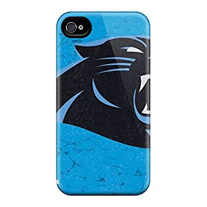 High Quality Cell-phone Hard Covers For Iphone 4/4s (cqK7118FKAx) Unique Design High-definition Carolina Panthers Pictures