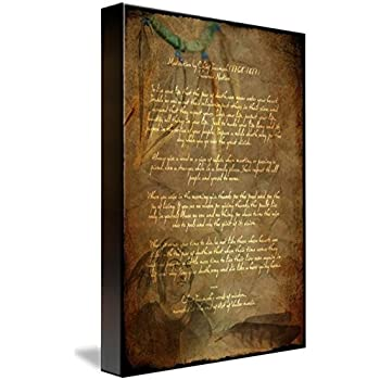 Amazon com: wonbye Hand Painted Canvas Art Live Your Life