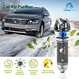 Clean Air Car Air Purifier 2018 | Portable Car Freshener & Ionizer Air Purifier | Cigarette, Smoke, Odor, Pet Smell & Dust Eliminator | Available for Car,Home, or RV | Alleviate Allergies & Asthma 12v