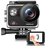 Campark V30 Native 4K Action Camera 20MP EIS Touch Screen WiFi Waterproof Camera with Optional View Angle, 2 1350mAh…