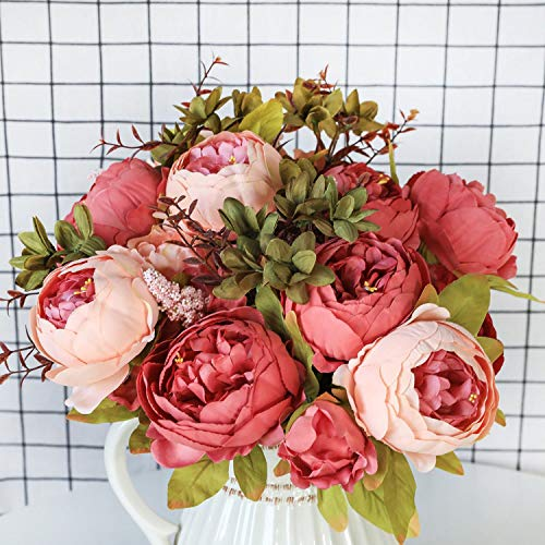 13-Branches-Small-Fresh-Artificial-Silk-Peony-Bouquets-Big-Flowers-for-Wedding-Party-Office-Hotel-and-Home-Decorationtype1-Light-Pink
