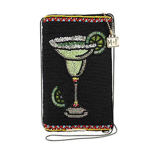MARY FRANCES Salty Beaded Margarita Crossbody Phone Bag