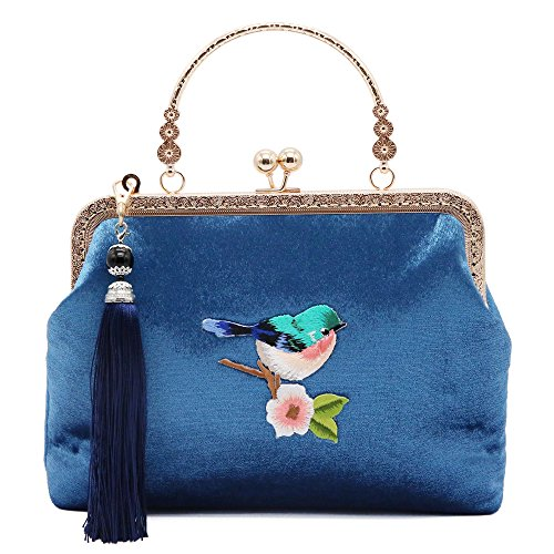 Embroidered Coin Purse - Vintage Bags For Women Classic Versatile Totes Shoulder Bag Coin Purse Crossbody Bag Evening Bag By JBTFFLY