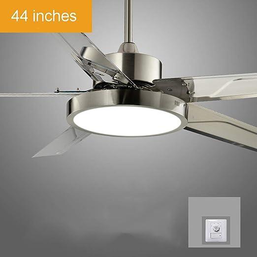 Oudan Sala de Estar con Control Remoto Ventilador de Techo Luz LED ...
